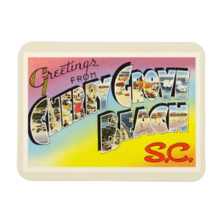 Cherry Grove Beach South Carolina SC Old Postcard- Magnet
