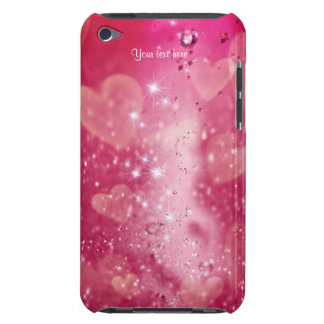 Cherry Heart Sparkle for iPod Touch Barely There iPod Covers