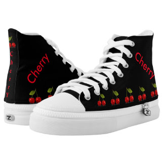 Cherry-High Top ZIPZ® shoes is designed Printed Shoes