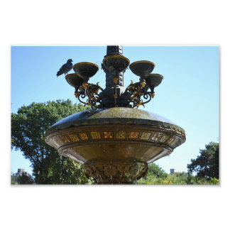 Cherry Hill Fountain Central Park NYC Photography Photo Print