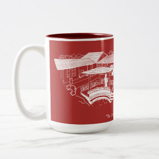 Cherry Lawn School Mg - Red with Plaque Two-Tone Coffee Mug