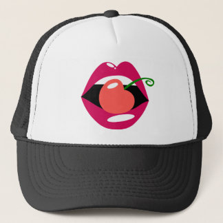 Cherry Lips Trucker Hat