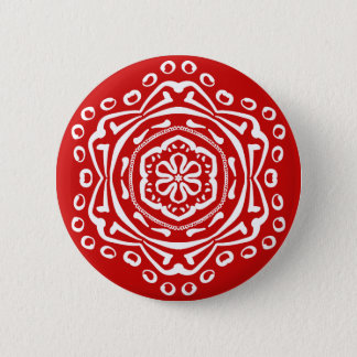 Cherry Mandala 6 Cm Round Badge