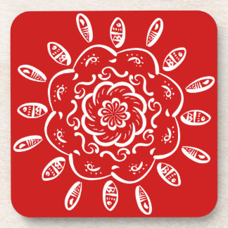 Cherry Mandala Coaster