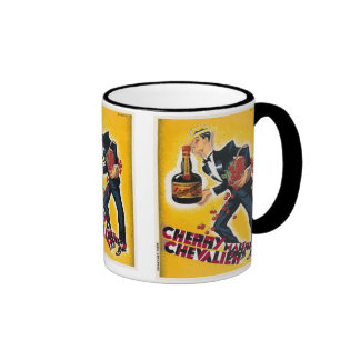 Cherry Maurice Chevalier Vintage Label Mug