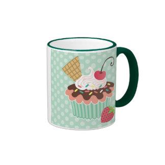 Cherry & Mint Cupcake Mug