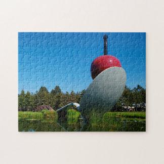 Cherry on a  Spoon Minnesota. Jigsaw Puzzle