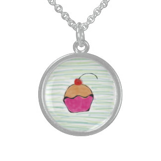 Cherry on cupcake To glue round Personalized Necklace