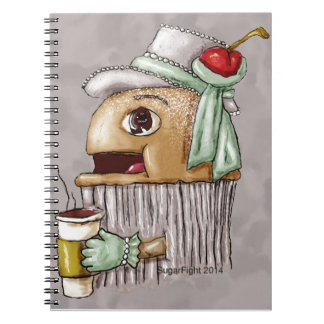 Cherry on Top Cupcake with Coffee Spiral Note Book