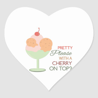Cherry On Top Heart Sticker