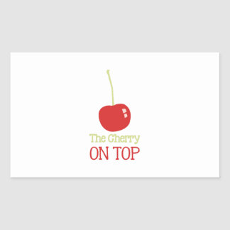 Cherry On Top Rectangular Sticker