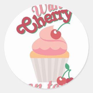 Cherry On Top Round Sticker