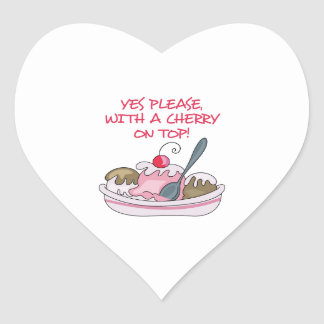 CHERRY ON TOP HEART STICKER