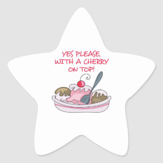 CHERRY ON TOP STAR STICKERS