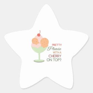 Cherry On Top Star Sticker