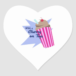 Cherry On Top Heart Stickers