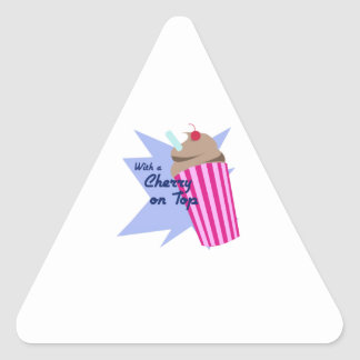 Cherry On Top Triangle Sticker