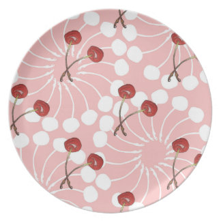 Cherry Pair Pattern (White Chocolate + Strawberry) Plate