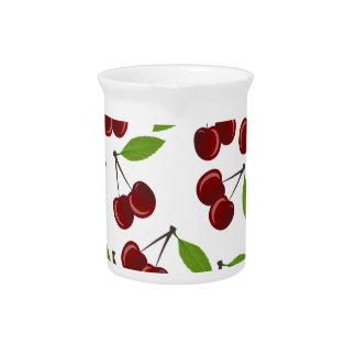 Cherry pattern pitcher