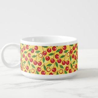 Cherry pattern chili bowl