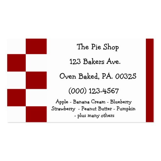 Cherry Pie Colors Business Card Template