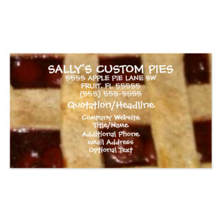 Cherry Pie Company Pack Of Standard Business Cards