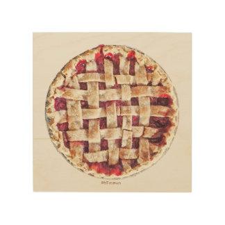 Cherry Pie detailed dessert wall art Wood Canvas