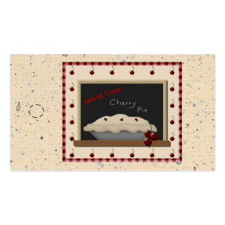 Cherry Pie Hang Tag Double-Sided Standard Business Cards (Pack Of 100)
