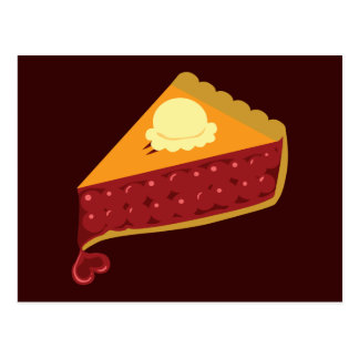 Cherry Pie Heart Postcard