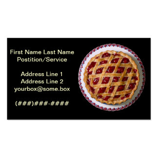 Cherry Pie Pack Of Standard Business Cards