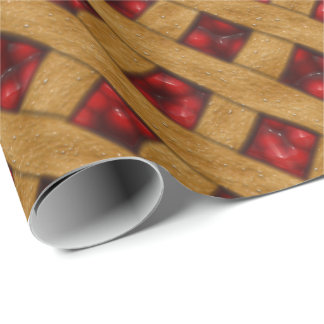 Cherry Pie, Red Cherries, Dessert, Pie, Bakery Wrapping Paper