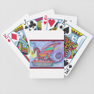 Cherry Pie with Faery and Dragon Fairy Bicycle Playing Cards