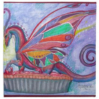 Cherry Pie with Faery and Dragon Fairy Napkin