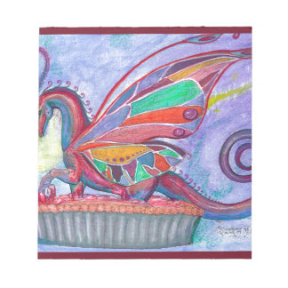 Cherry Pie with Faery and Dragon Fairy Notepad