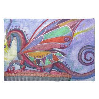 Cherry Pie with Faery and Dragon Fairy Placemat