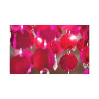 Cherry Pink Hanging Discs Canvas Print