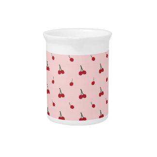Cherry Pink Pattern Pitcher