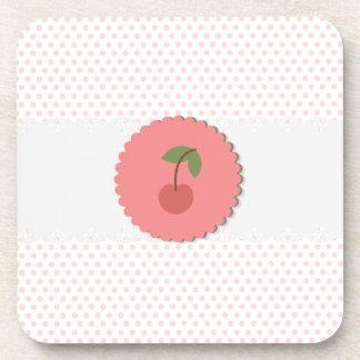 Cherry Polka Dot Coasters