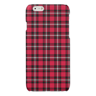 Cherry Red and Black Sporty Plaid iPhone 6 Case
