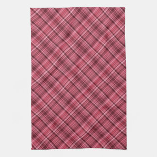 Cherry red and wine striped tea towel