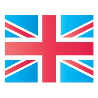 Cherry Red Classic Union Jack British(UK) Flag Postcard