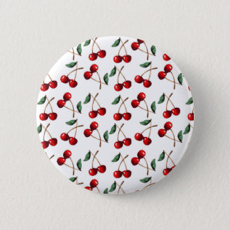 Cherry Red Pattern 6 Cm Round Badge