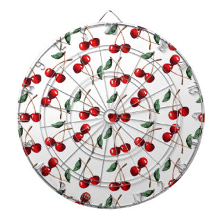 Cherry Red Pattern Dartboard