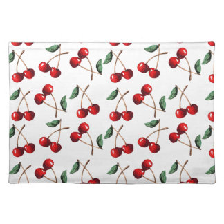 Cherry Red Pattern Placemat