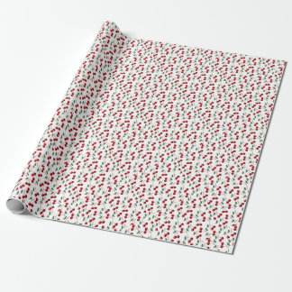 Cherry Red Pattern Wrapping Paper