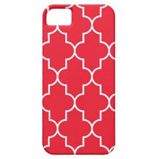 Cherry Red Quatrefoil iPhone 5 Cases