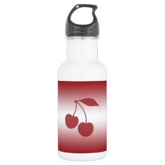 Cherry red to white gradient 532 ml water bottle