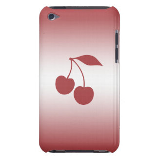 Cherry red to white gradient barely there iPod case