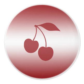Cherry red to white gradient ceramic knob