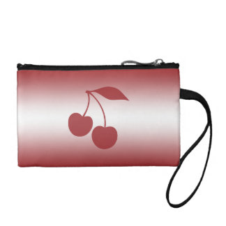 Cherry red to white gradient coin purse